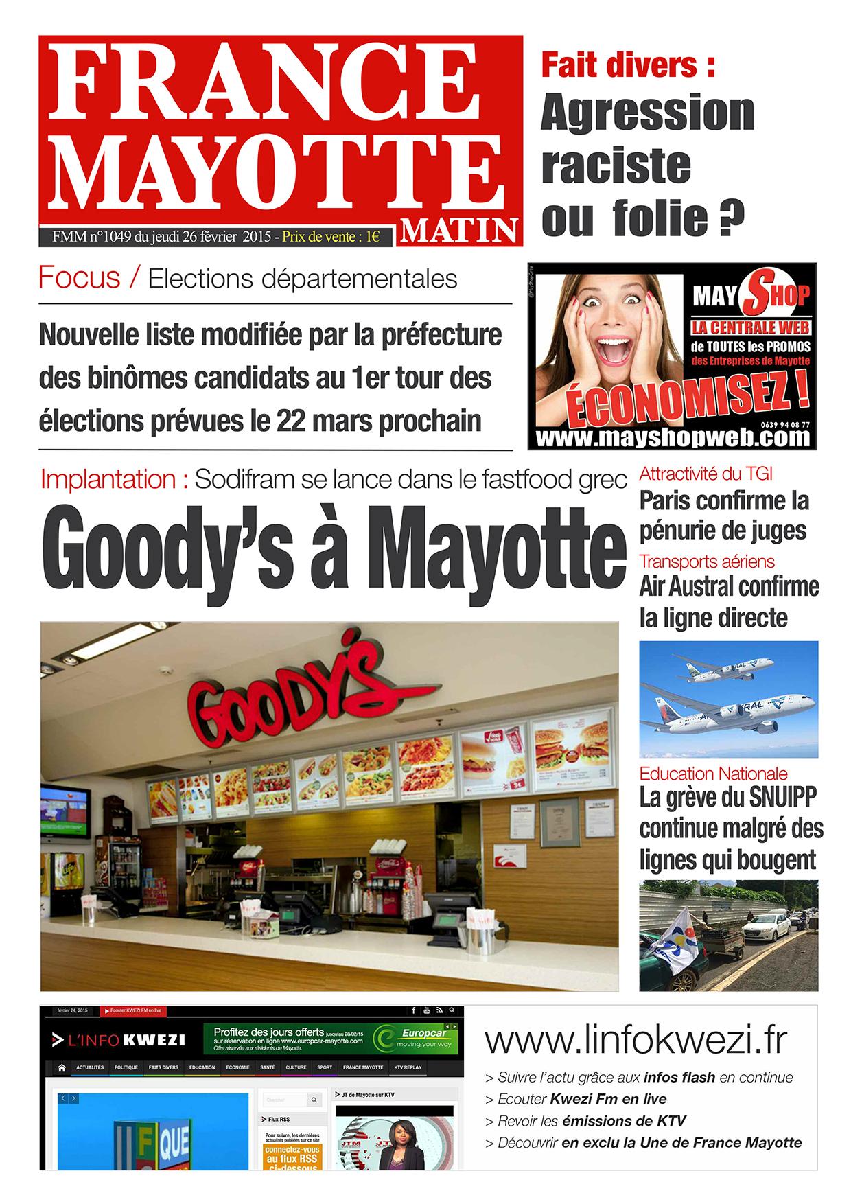 France Mayotte Jeudi 26 février 2015