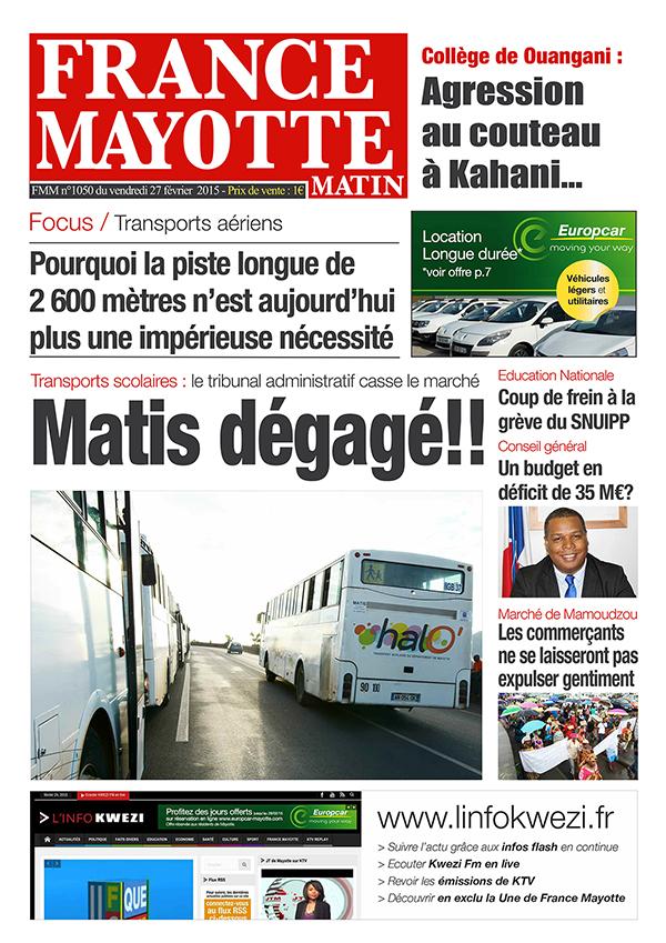 France Mayotte Vendredi 27 février 2015