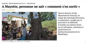 Un reportage sur Mayotte dans Médiapart