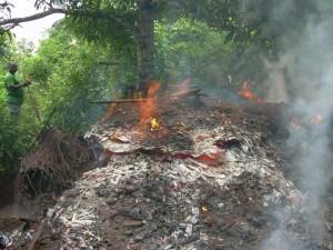 Destruction d'un puits de charbon : 2800€ partis en fumée