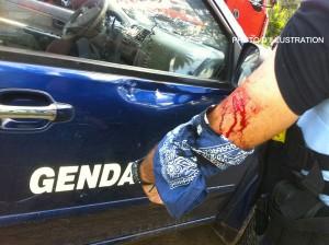 Un gendarme évacué au CHM