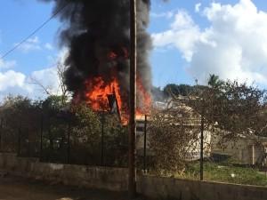 Incendie derrière chez Enzo (vidéo)