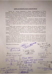 L'appel pour l'egalite reelle a Mayotte 8 octobre 2015 signe-1