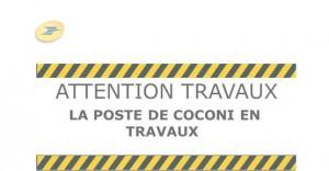 La poste de Coconi en travaux