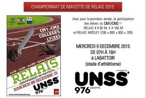 UNSS – Relais Mayotte 2015