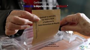 Conférence-échange sur «le choix de la départementalisation» au centre universitaire