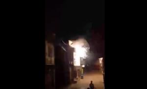 Incendie à Kaweni (vidéo)