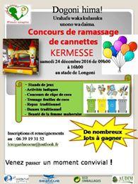 Kermesse et concours de ramassage de canettes