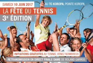 Troisième édition de la fête du Tennis au TC Koropa