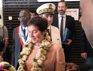 Annick Girardin est à Mayotte