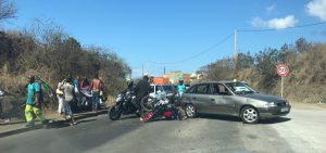 Accident de la route devant la Star à Majicavo