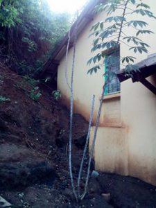 À Bandraboua, les fortes pluies également à l'origine de glissements de terrain