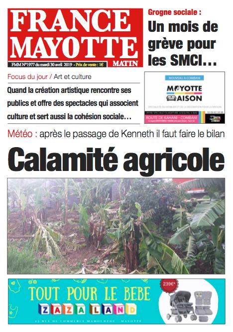 France Mayotte Mardi 30 avril 2019