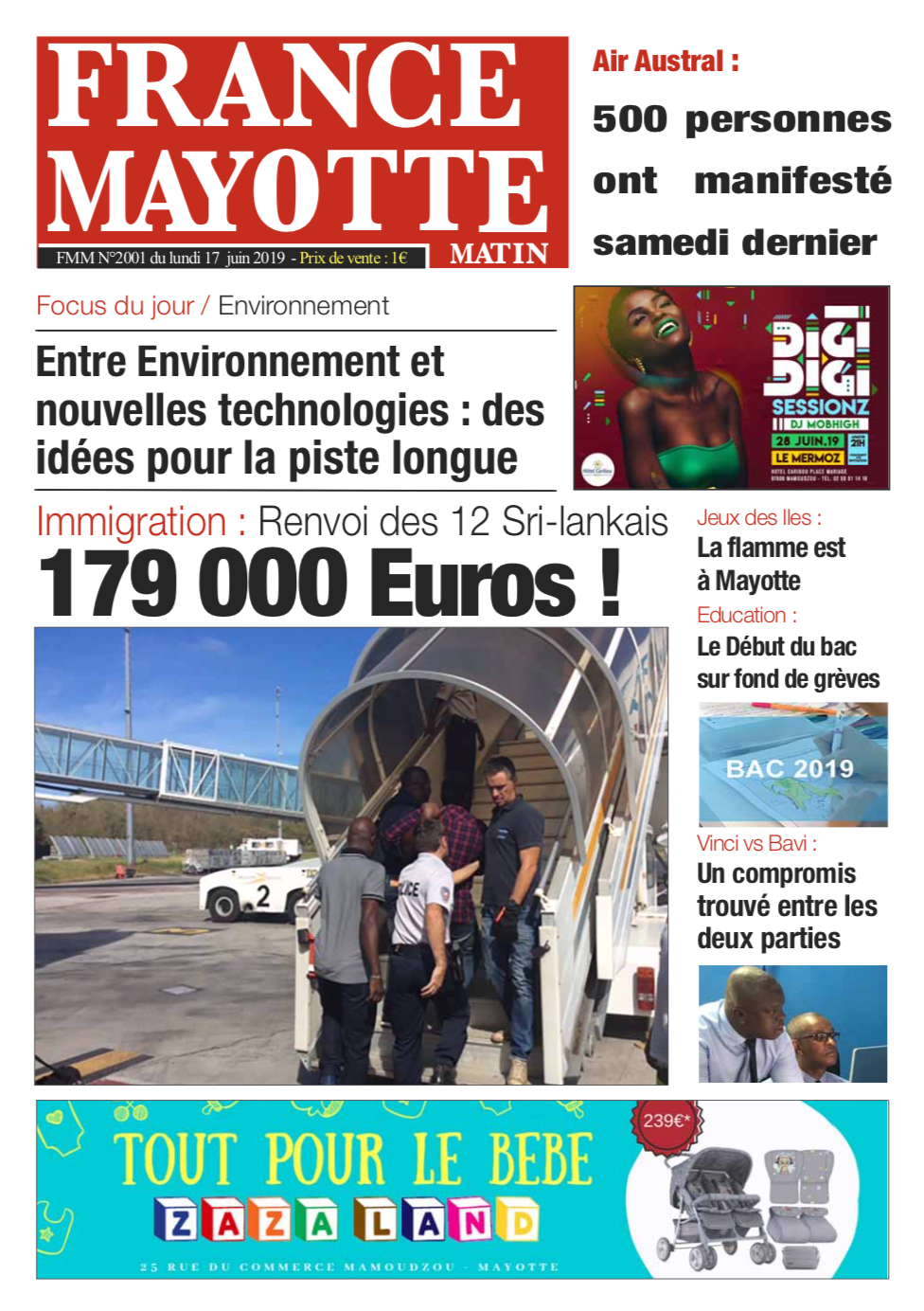 France Mayotte Lundi 17 juin 2019