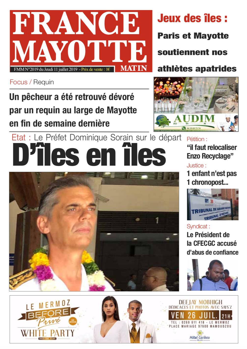 France Mayotte Jeudi 11 juillet 2019