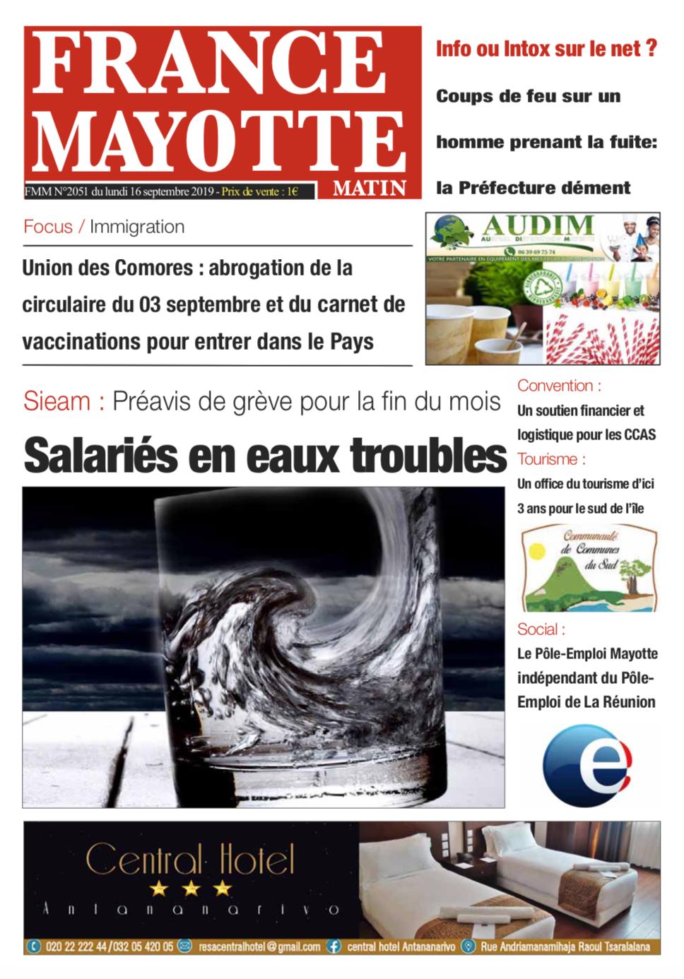 France Mayotte Lundi 16 septembre 2019