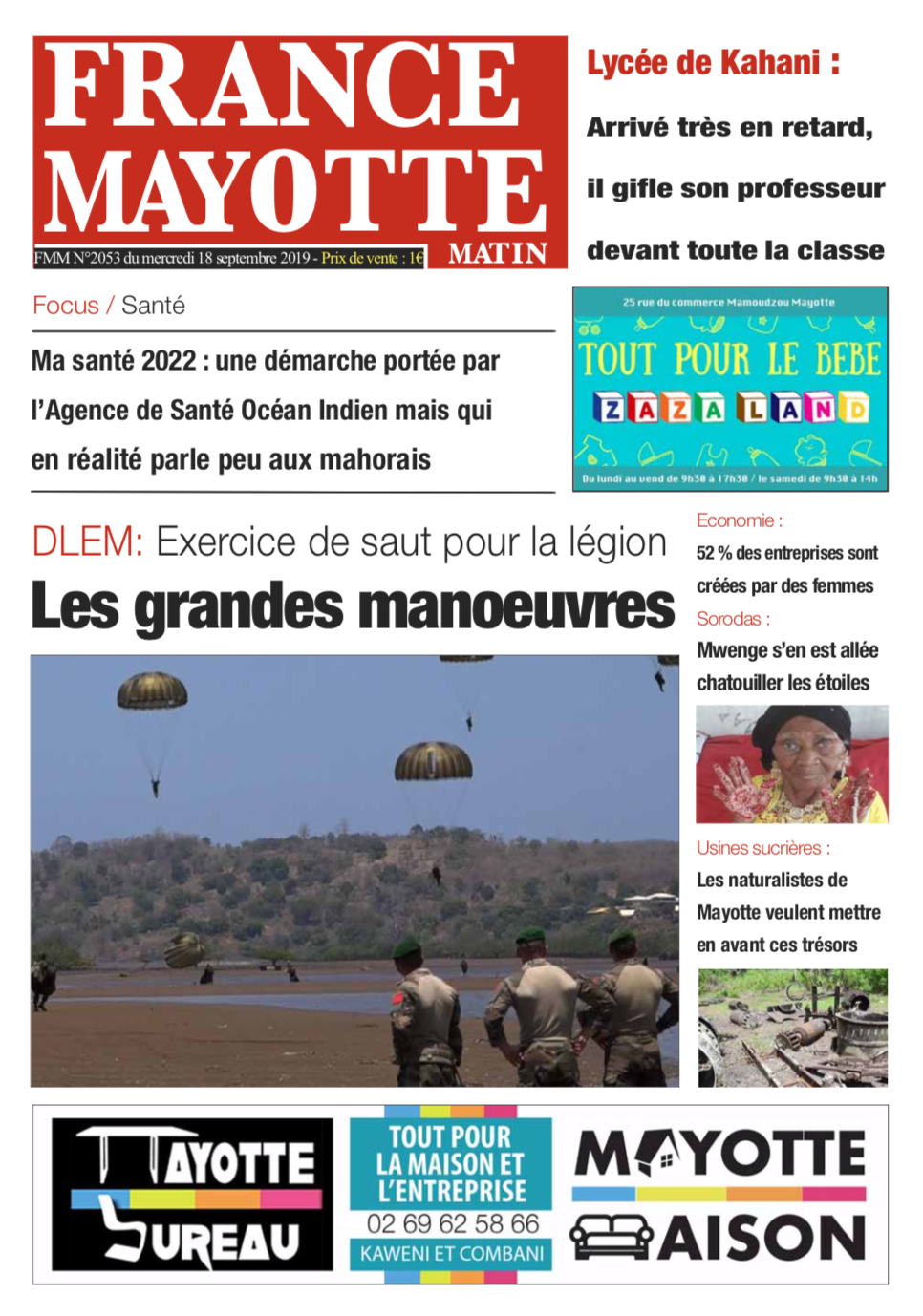 France Mayotte Mercredi 18 septembre 2019