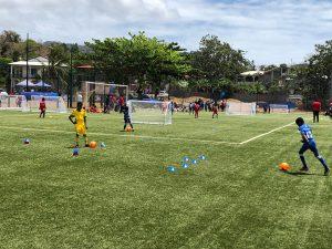 La journée du football se déroule toute la journée à Bandraboua