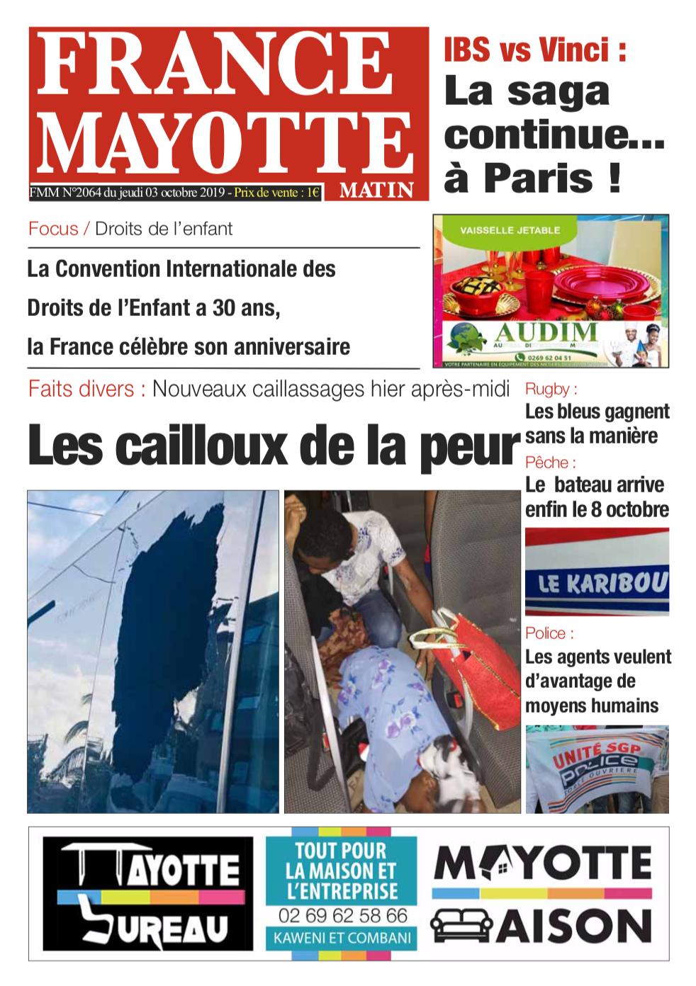 France Mayotte Jeudi 3 octobre 2019