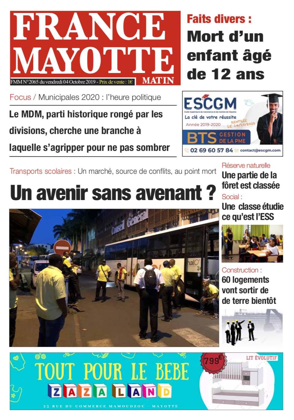France Mayotte Vendredi 5 octobre 2019