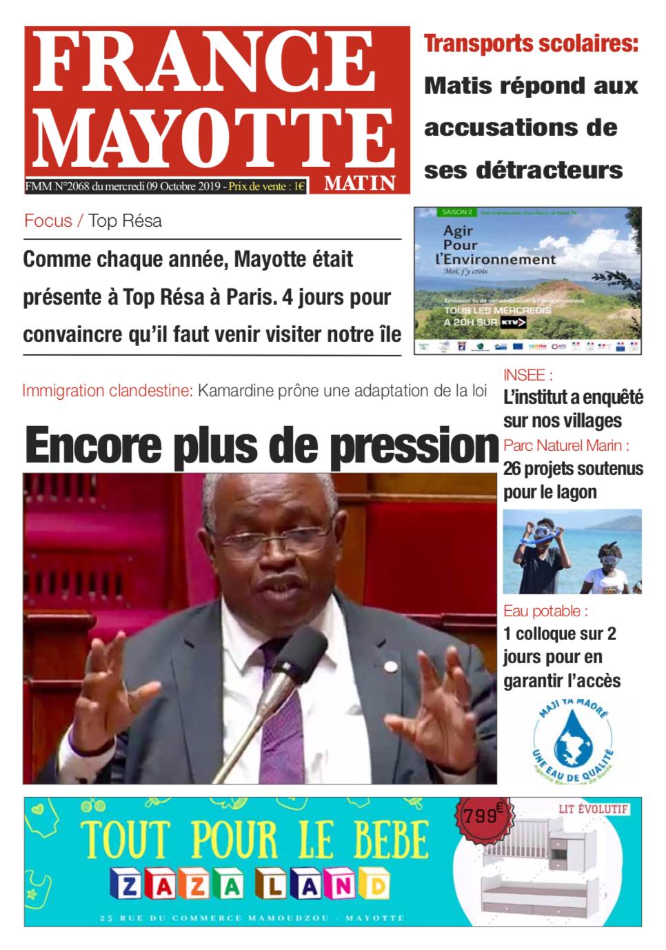France Mayotte Mercredi 9 octobre 2019