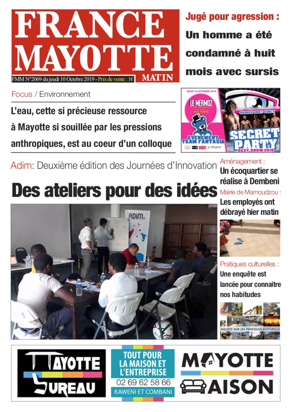 France Mayotte Jeudi 10 octobre 2019