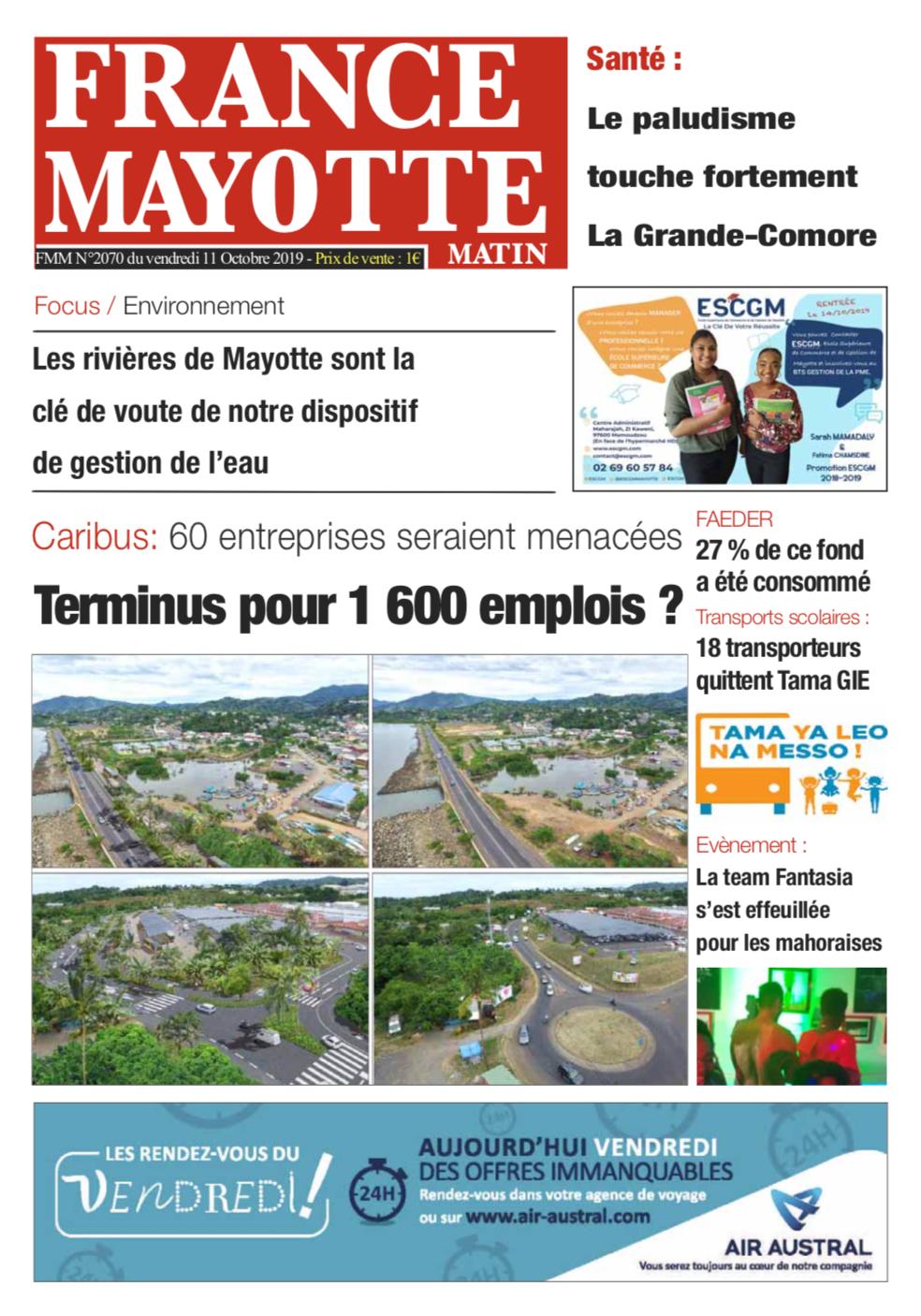 France Mayotte Vendredi 11 octobre 2019