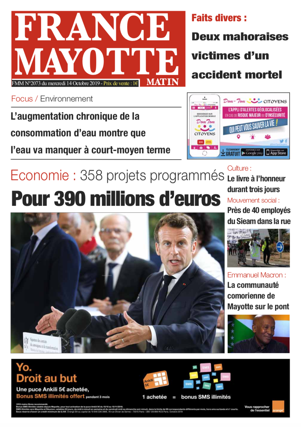 France Mayotte Mercredi 16 octobre 2019