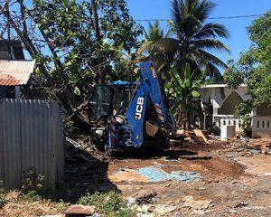 Démolitions d'habitations à Passamainty