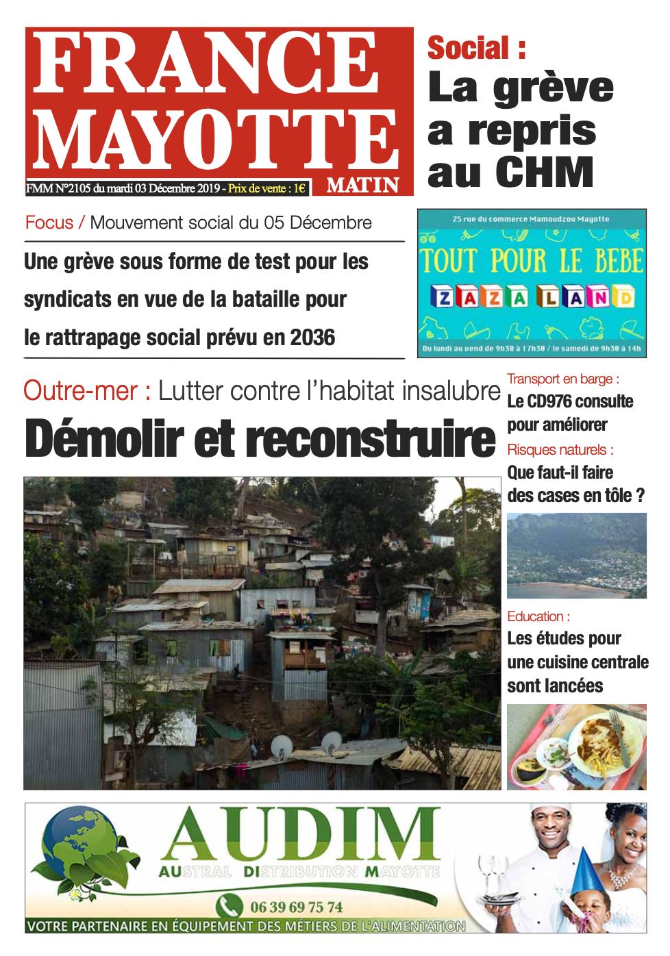 France Mayotte Mardi 3 décembre 2019