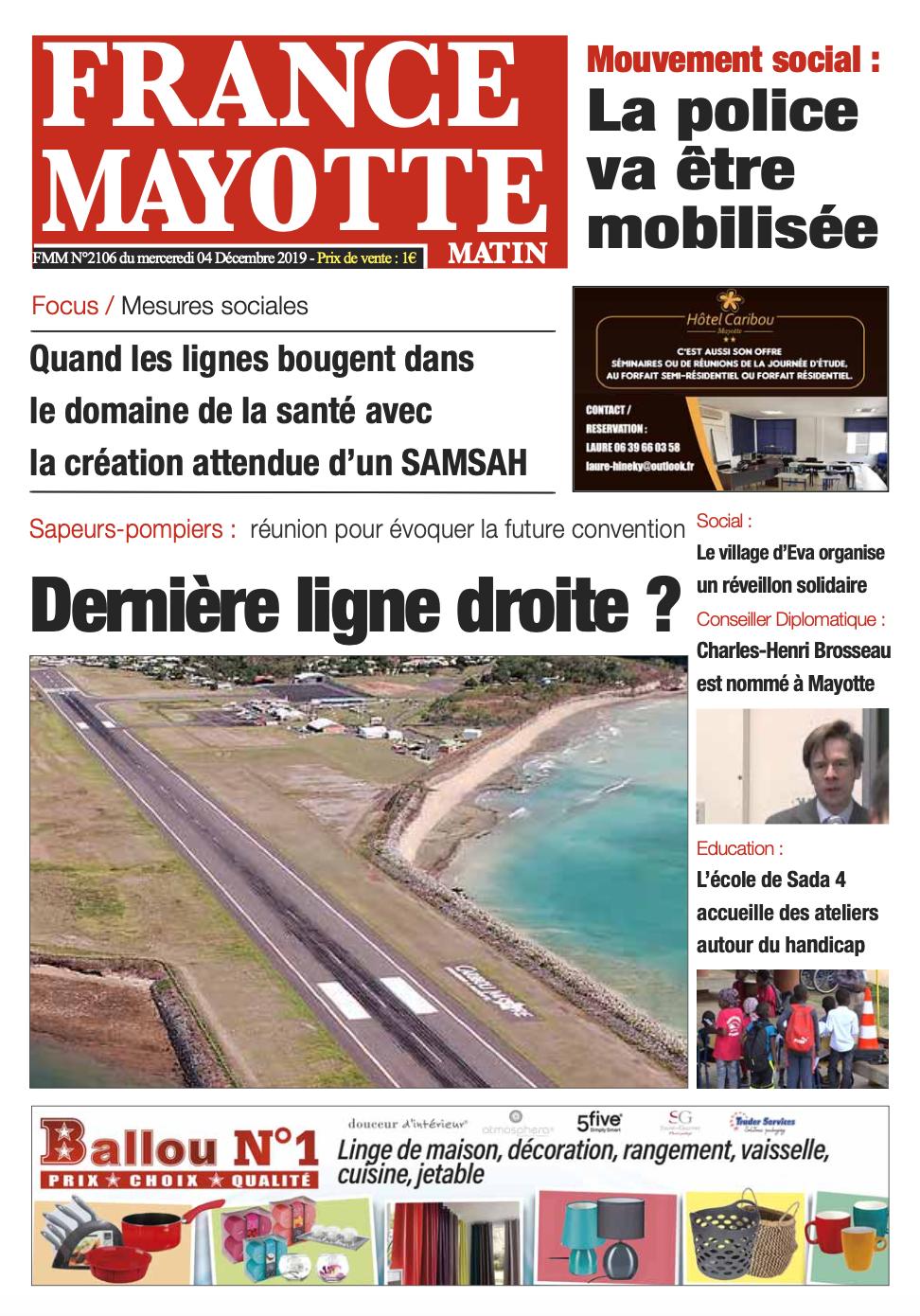 France Mayotte Mercredi 4 décembre 2019