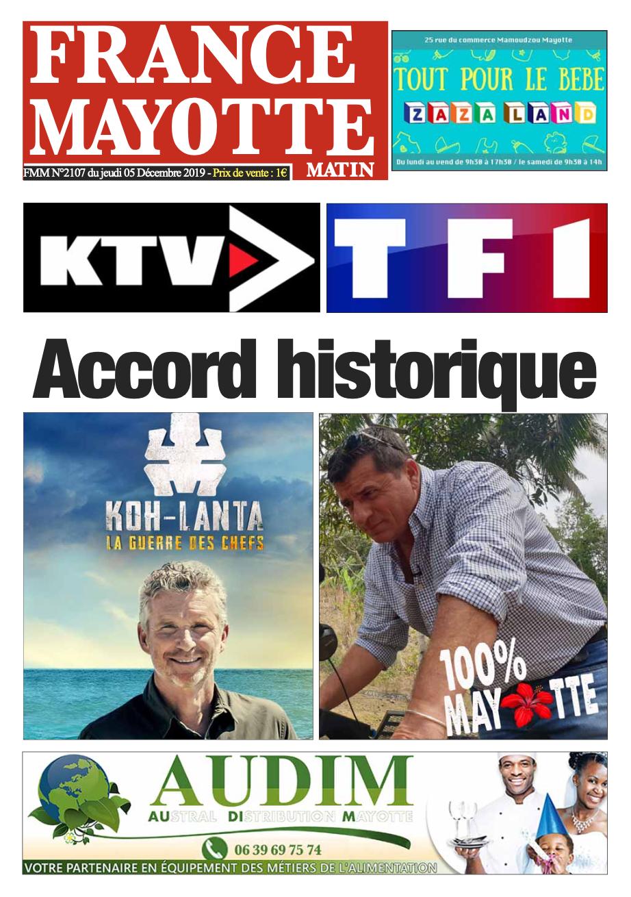France Mayotte Jeudi 5 décembre 2019