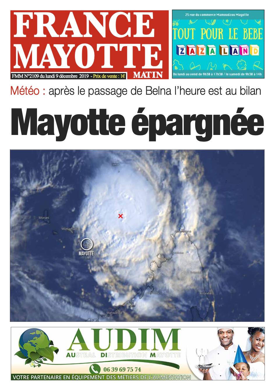 France Mayotte Lundi 9 décembre 2019