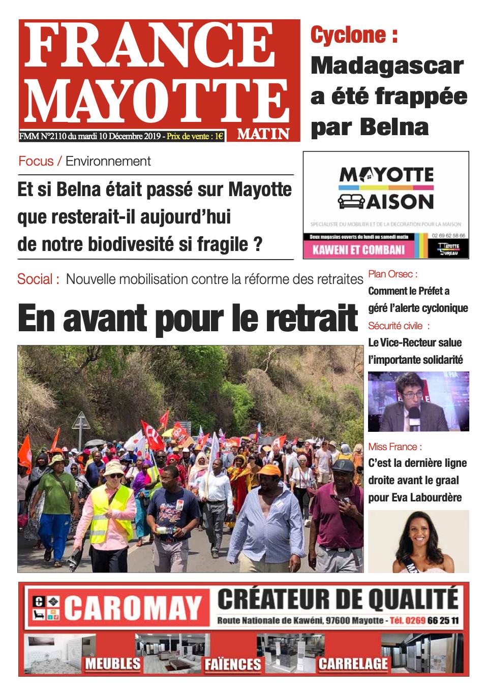 France Mayotte Mardi 10 décembre 2019