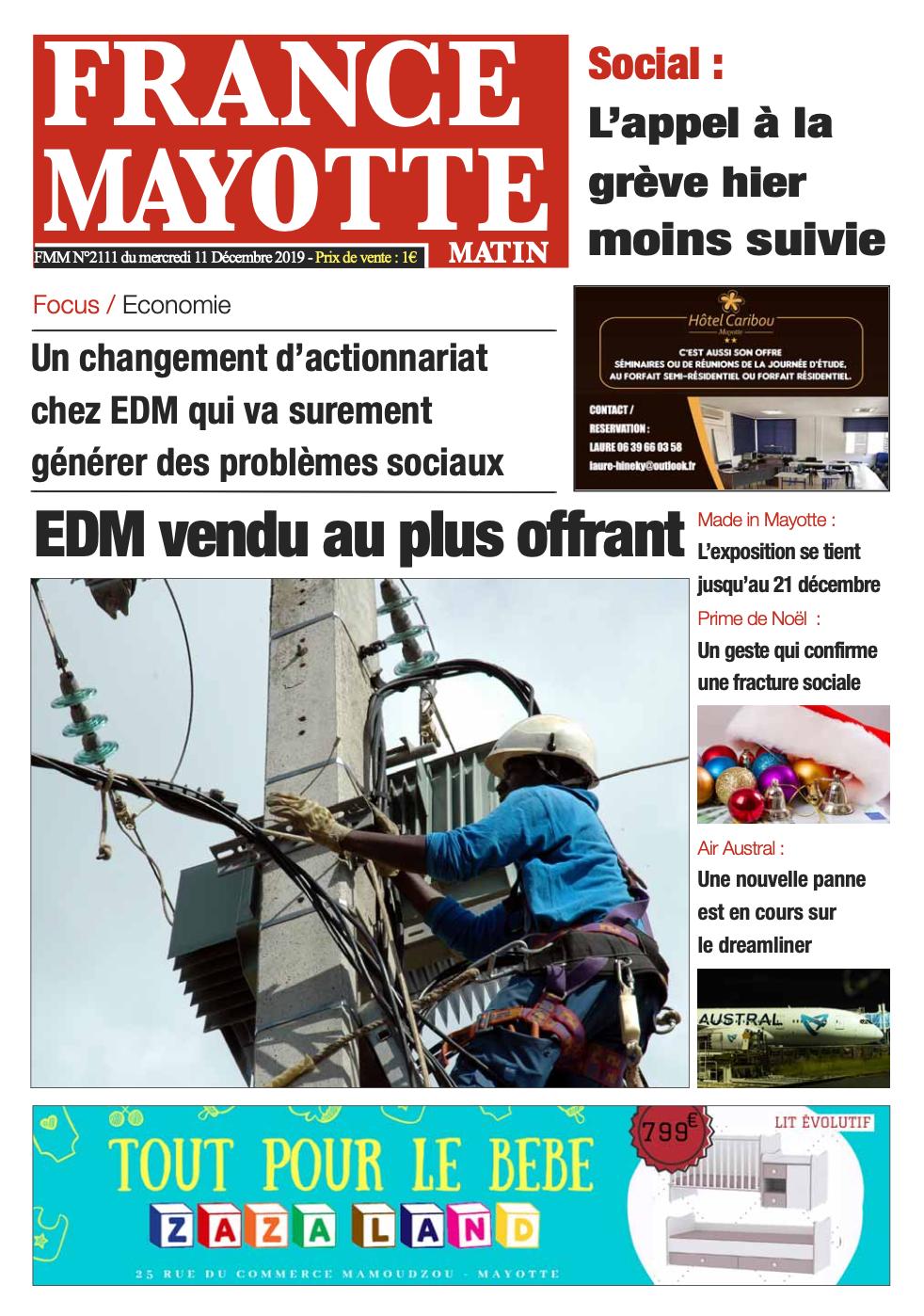 France Mayotte Mercredi 11 décembre 2019