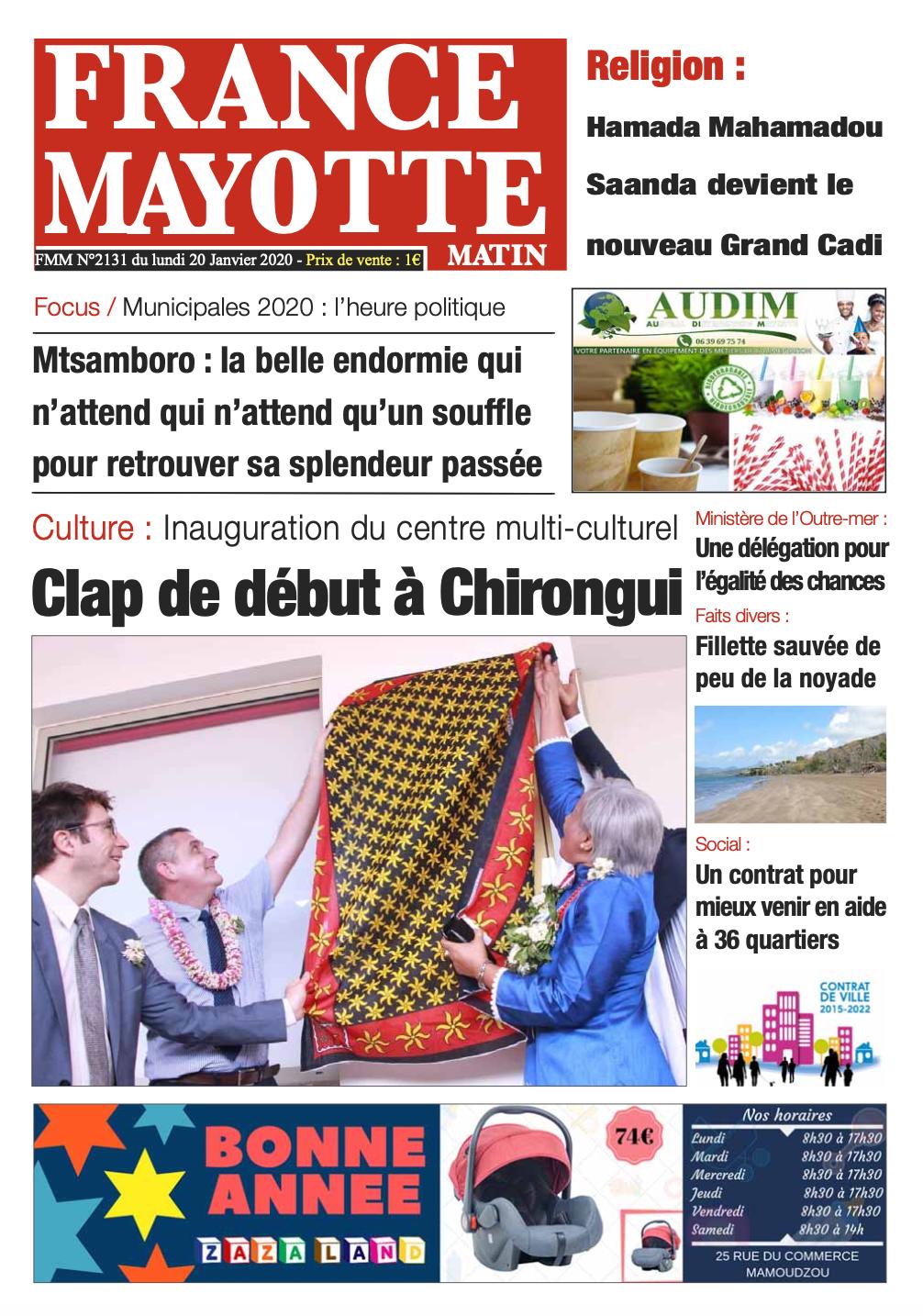 France Mayotte Lundi 20 janvier 2019