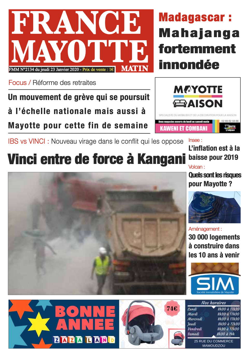 France Mayotte Jeudi 23 janvier 2020