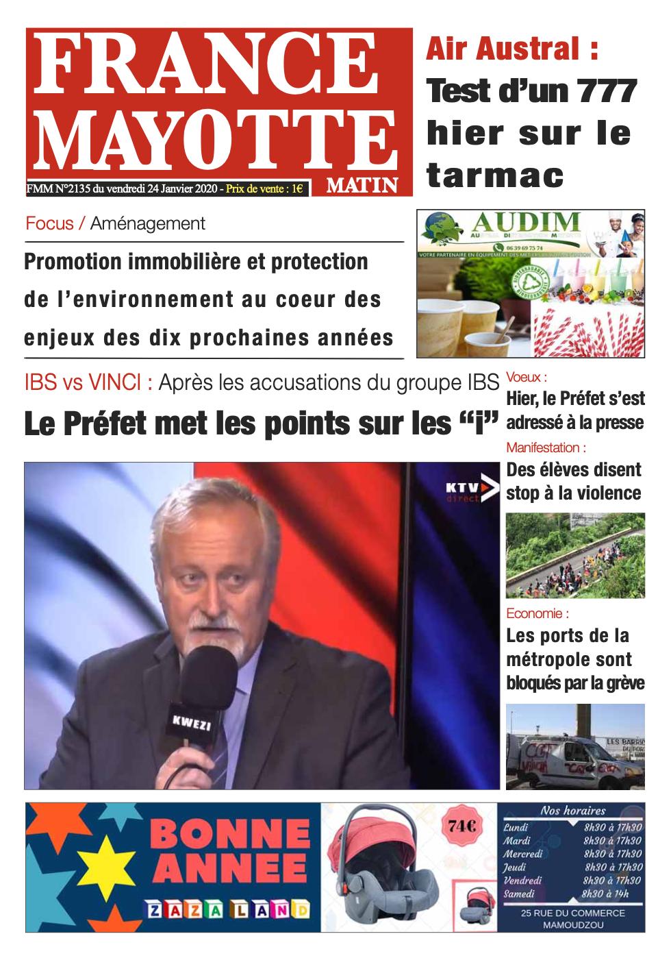 France Mayotte Vendredi 24 janvier 2020