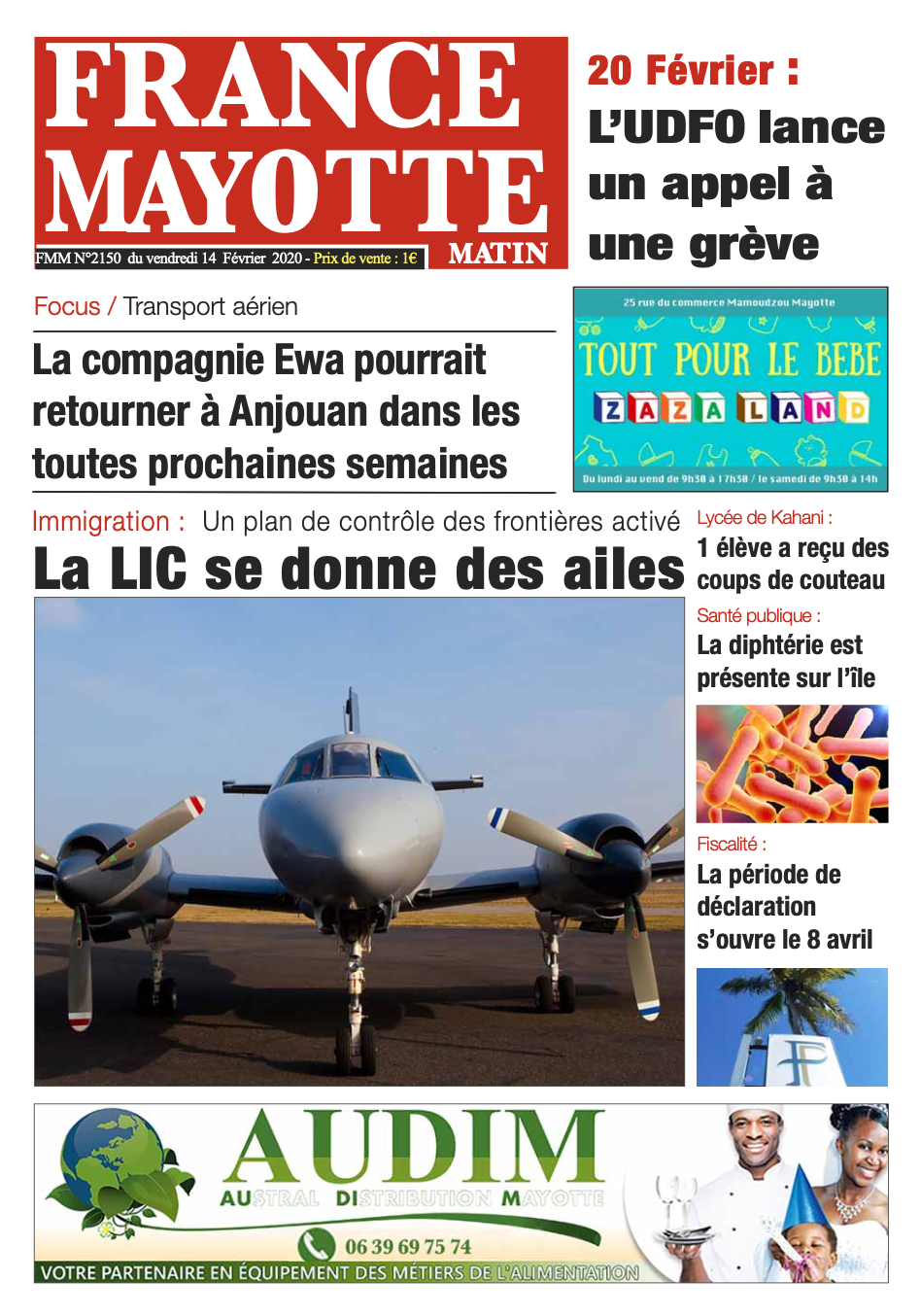 France Mayotte Vendredi 14 février 2020