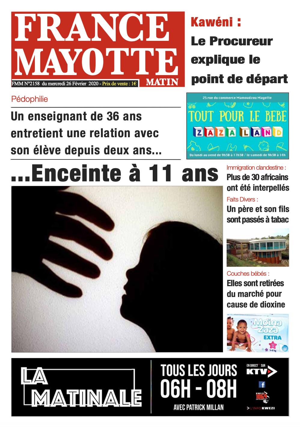 France Mayotte Mercredi 26 février 2020