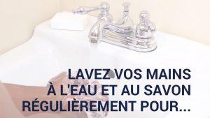 Eviter la propagation du virus en se lavant les mains efficacement (vidéo)