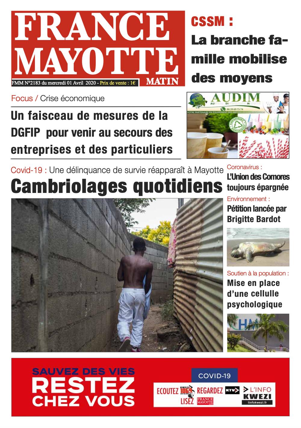 France Mayotte Mercredi 1er avril 2020
