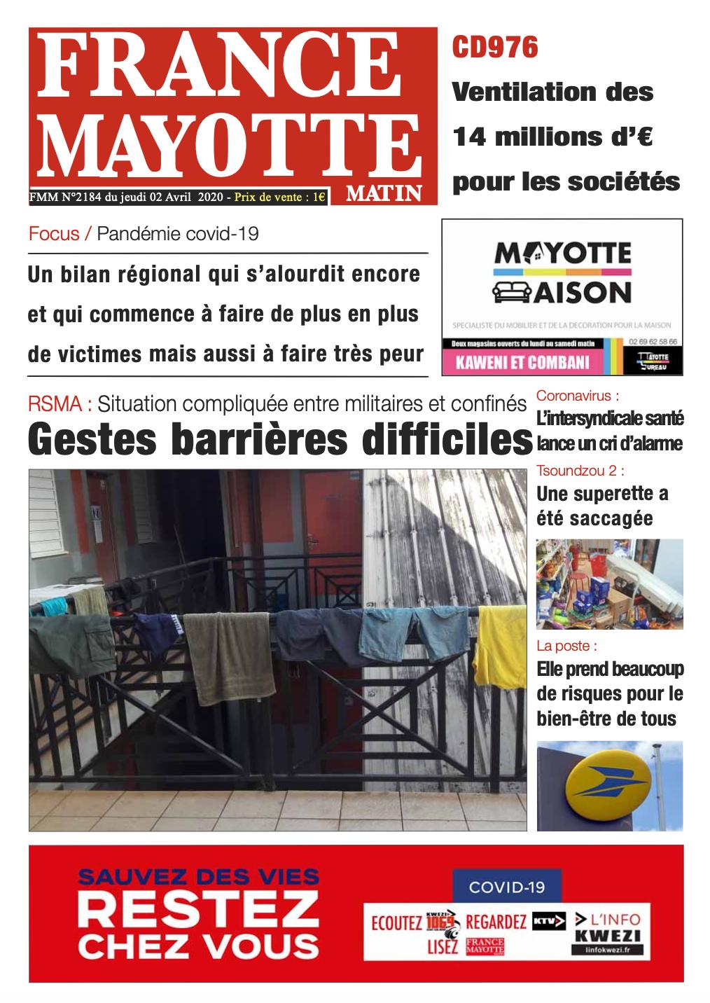 France Mayotte Jeudi 2 avril 2020