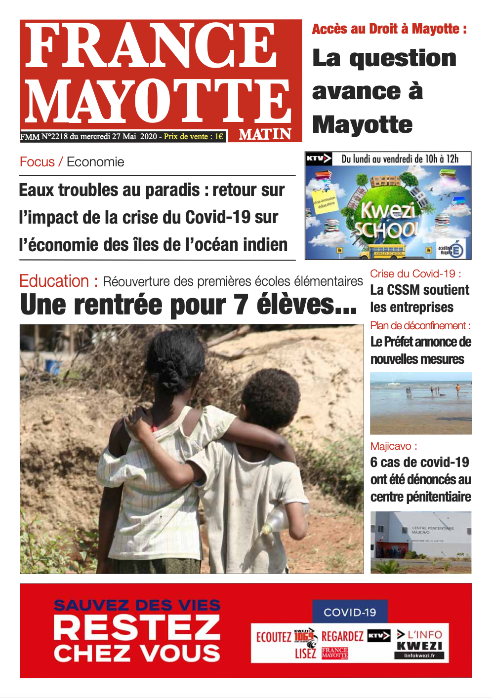 France Mayotte Mercredi 27 mai 2020