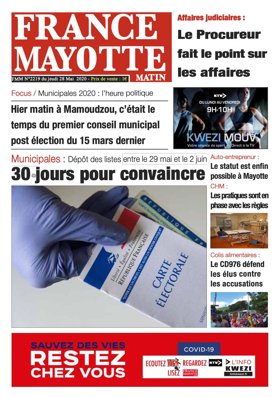 France Mayotte Jeudi 28 mai 2020