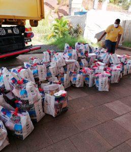 Le collectif IBS anti-chômage distribue 600 colis alimentaires