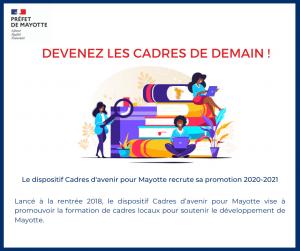 Le dispositif Cadres d'avenir pour Mayotte recrute sa promotion 2020-2021