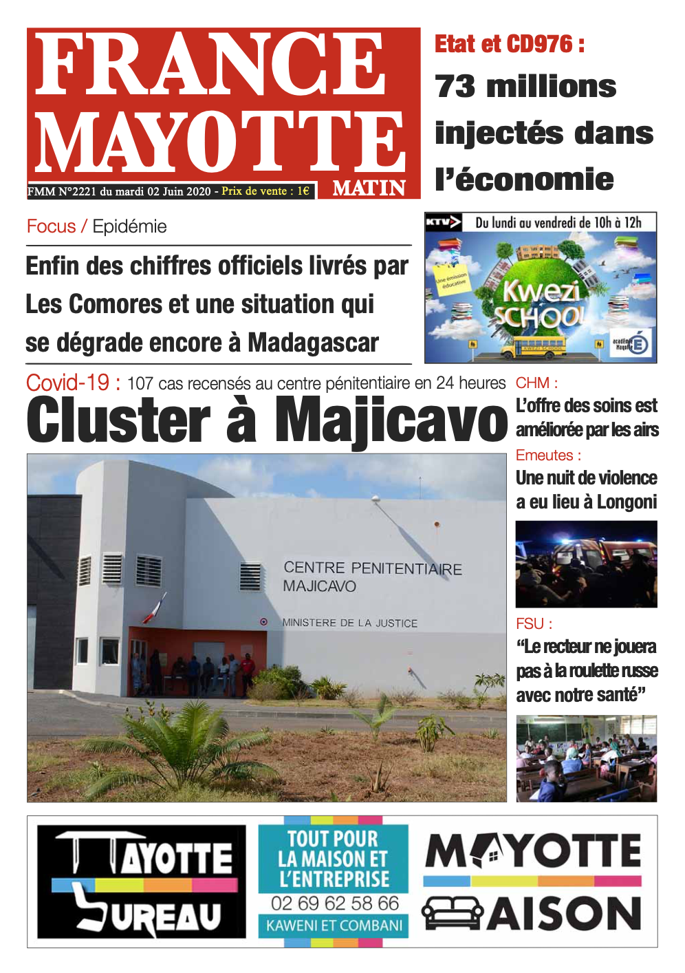France Mayotte Mardi 2 juin 2020
