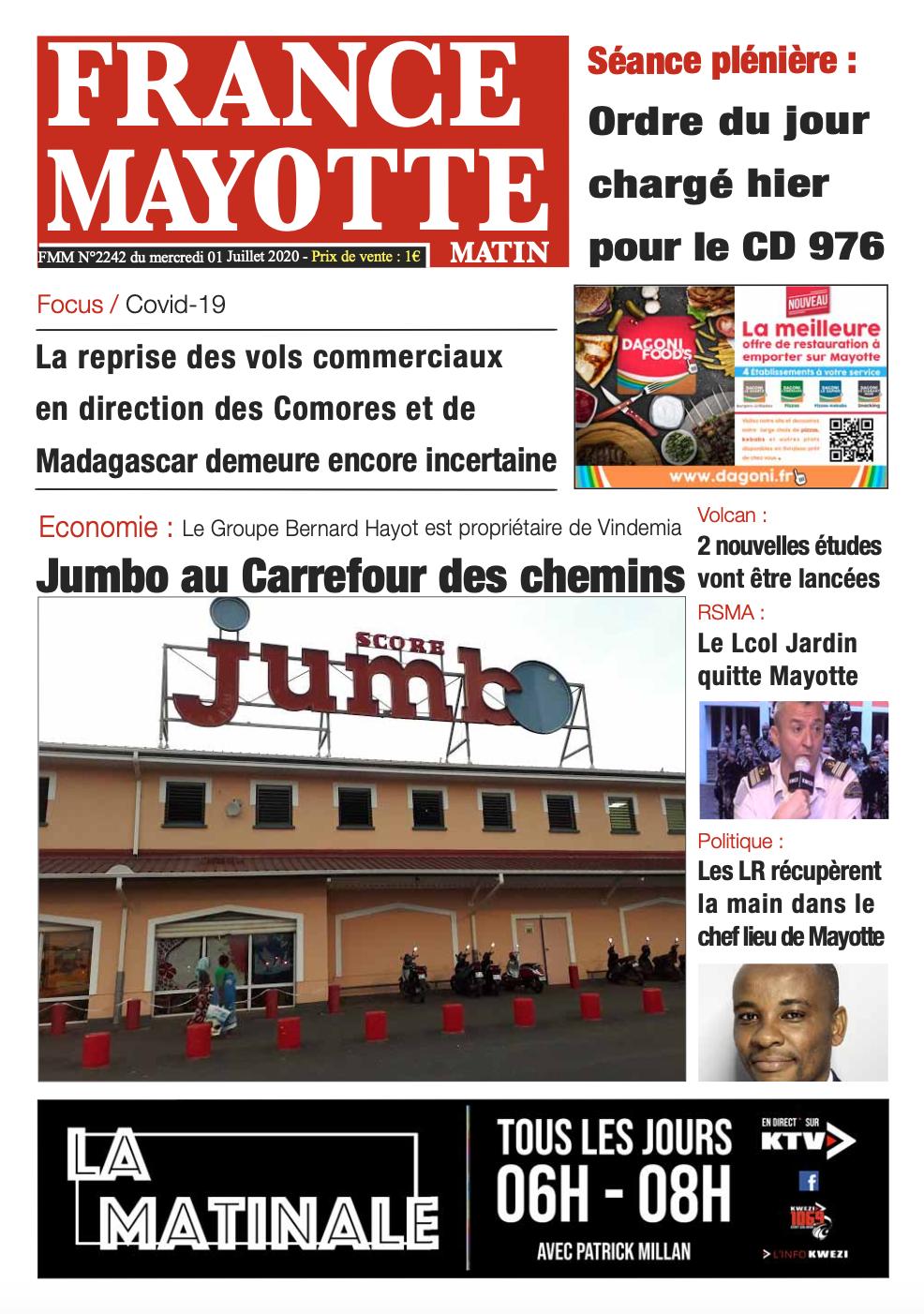 France Mayotte Mercredi 1er juillet 2020