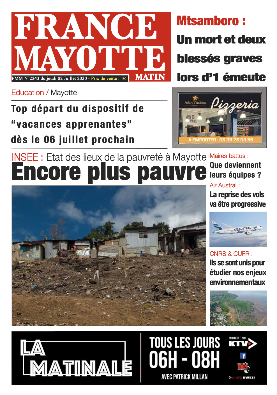 France Mayotte Jeudi 2 juillet 2020